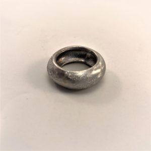 (Anello Bombè lavorazione polvere di diamanti) ottone placcato argento rodiato (120)