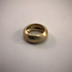 (Anello Bombè lavorazione polvere di diamanti) ottone placcato oro giallo (120)