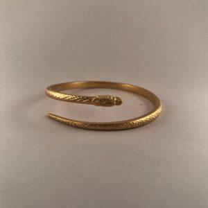 (Bracciale Lingua di Drago lavorazione polvere di diamante) ottone placcato oro (168).