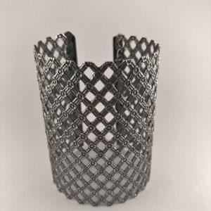 (Bracciale Pizzo) lega metallica placcata argento (228),