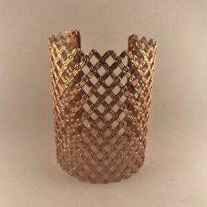 (Bracciale Pizzo) lega metallica placcata oro (228)