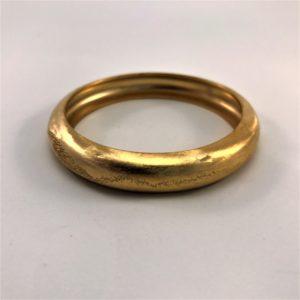 (Bracciale chiuso Bonbè lav pol diam) ottone placcato oro giallo (168)
