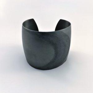 (Bracciali Grandi lavorazione polvere di diamanti) ottone placcato argento grigio(264)