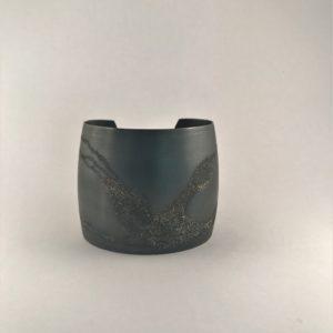 (Bracciali Grandi lavorazione polvere di diamanti) ottone placcato argento opaco (264)