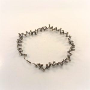 (Collier giro collo elastico) acciaio con labradorite (192)
