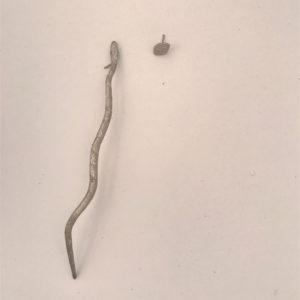 (Orecchini Lingua di Drago lavorazione polvere di diamanti) ottone placcato argento rodiato (168)