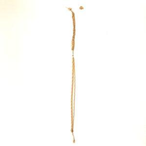 (Orecchini Multipendenti con Diamanti neri) rame placcato oro giallo con diamanti neri (240)