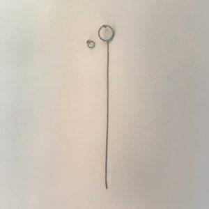 (Orecchini Pendenti lavorazione polvere di diamanti) ottone e rame placcato argento rodiato (168)