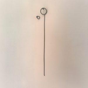 (Orecchini Pendenti lavorazione polvere di diamanti) ottone e rame placcato rutenio (168).